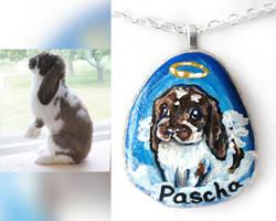 Pascha - Rabbit Portrait Necklace