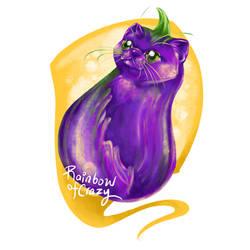 Day 28. Eggplant (Cat Doodle Challenge 2021)