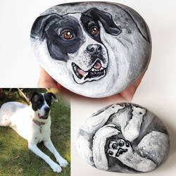Daisy - Dog Rock Art