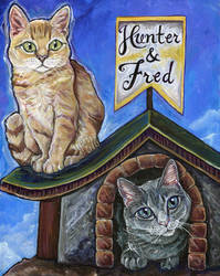 Hunter and Fred - Cat Portrait