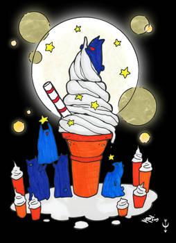 Ice Cream and Stars - colored