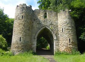 Castle Gateway Stock 2 by Queenselphie