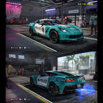 NFS: Heat - Chevrolet Corvette GS 2017 (Blue)