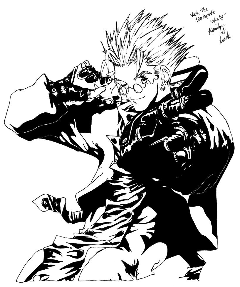 trigun coloring pages | Trigun - Vash the Stampede by K-L-Designs on DeviantArt