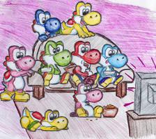 Yoshi Wii Party by MightyBiteySnake