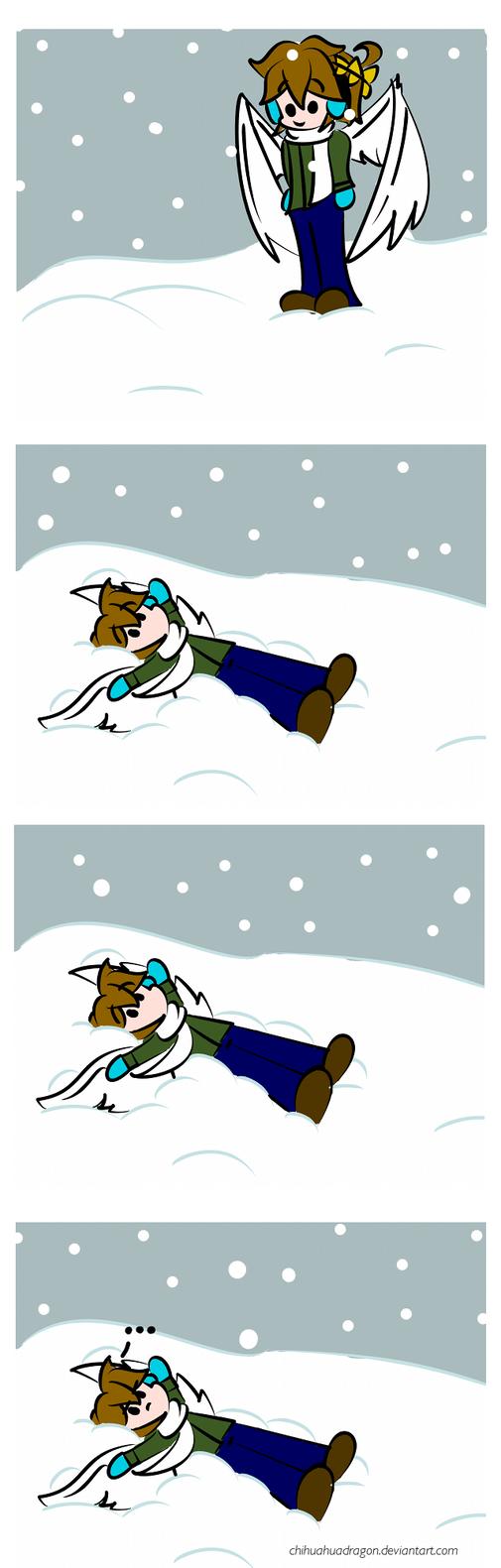 Snow Angel by MightyBiteySnake