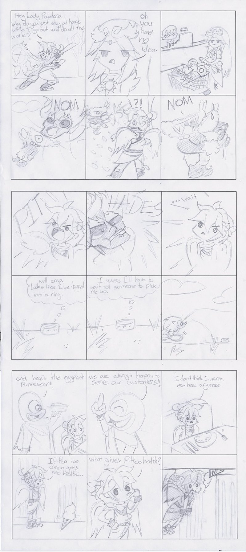 Kid Icarus funnies by Chihuahuadragon