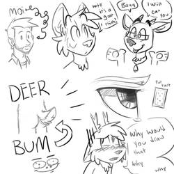 a deer bum and some other things by ThesePantsDontFit