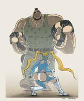 Abigail X R.Mika - Street Fighter by Quasimodox