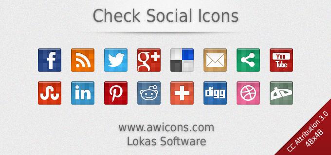 Check Social Icons