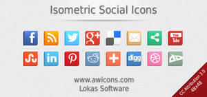 Isometric Social Icons by Insofta
