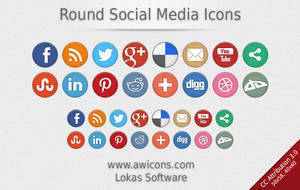 Round Social Media Icons by Insofta