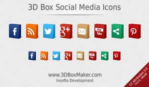 3D Box Social Media Icons