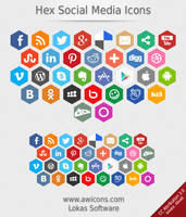 Hex Social Media Icons by Insofta