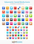 Volumetric Social Media Icons by Insofta