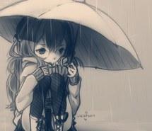 Sad Anime Sketch [Friend helped with edit :)] by RandomDuck246