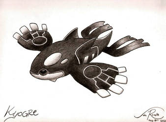 Kyogre by johnrenelle