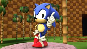 Classic Sonic by Rebeliondog