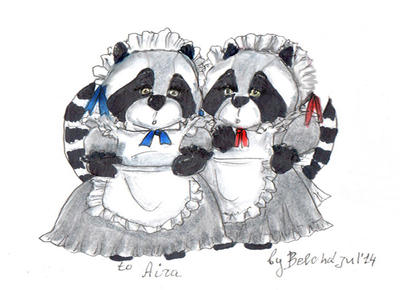 Raccoons maiden by sjupiter-belcha
