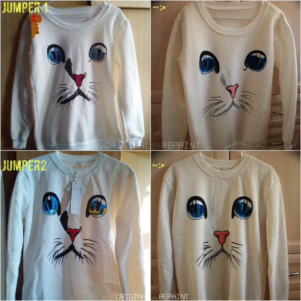 Repaint jumpers cat's face by sjupiter-belcha