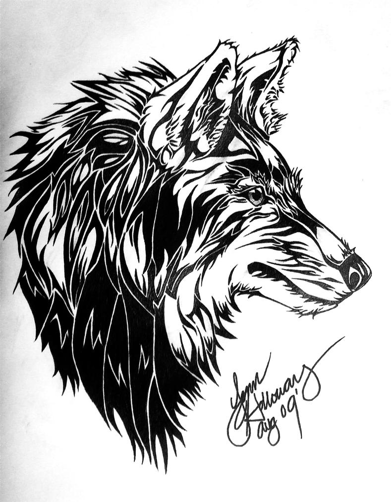 Tribal Wolf by LupusSp...