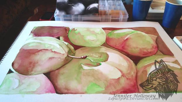 Watercolor Fruit- step 1