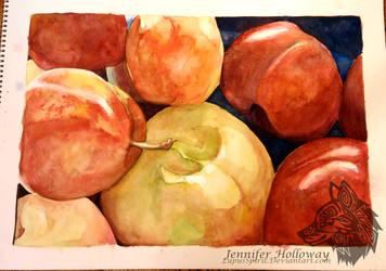 Watercolor Fruit- step 2