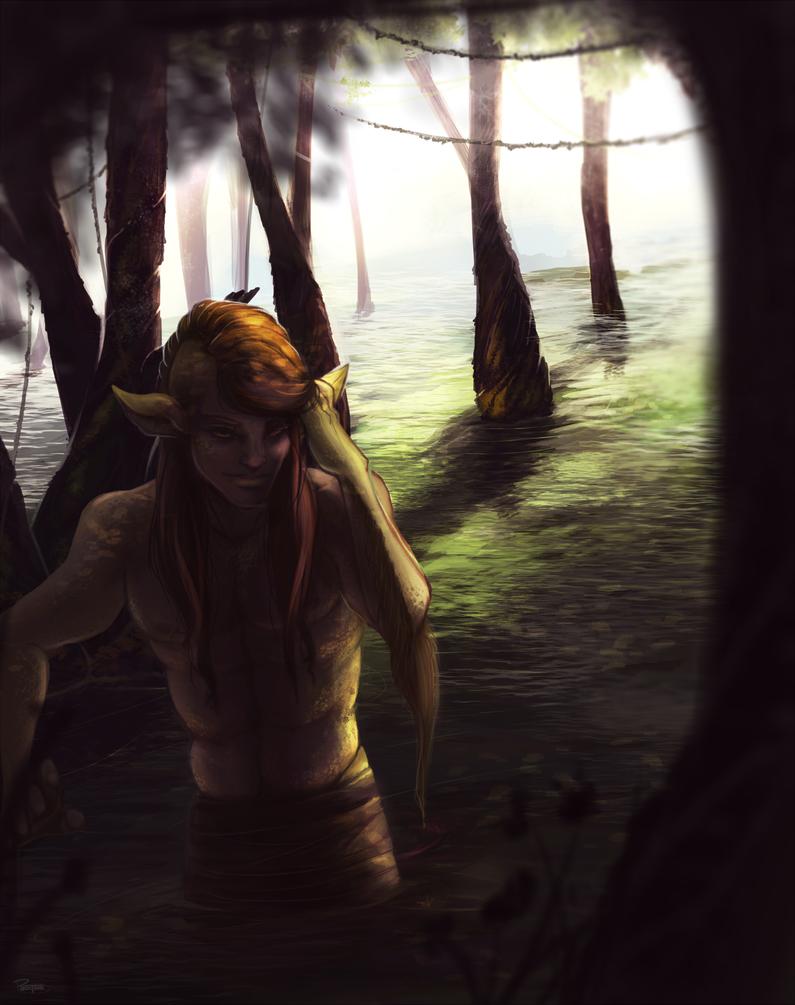 Kelpie Painting by PhoxTanks
