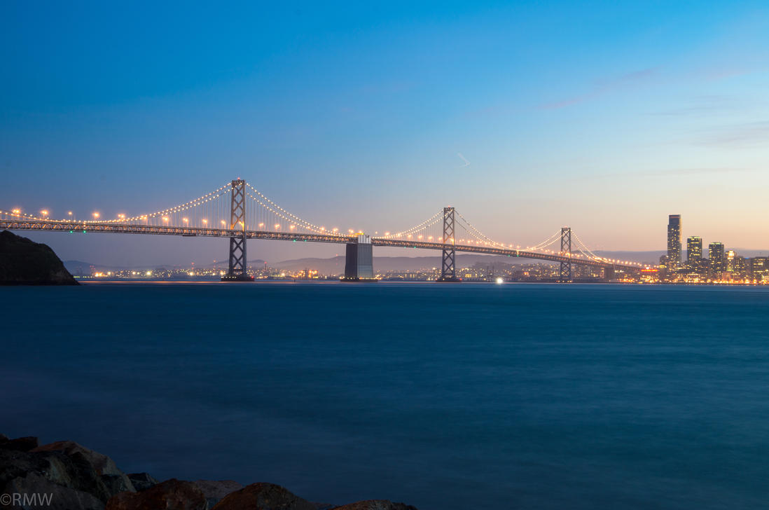 The Bay Bridge and San Francisco by R-M-Williams