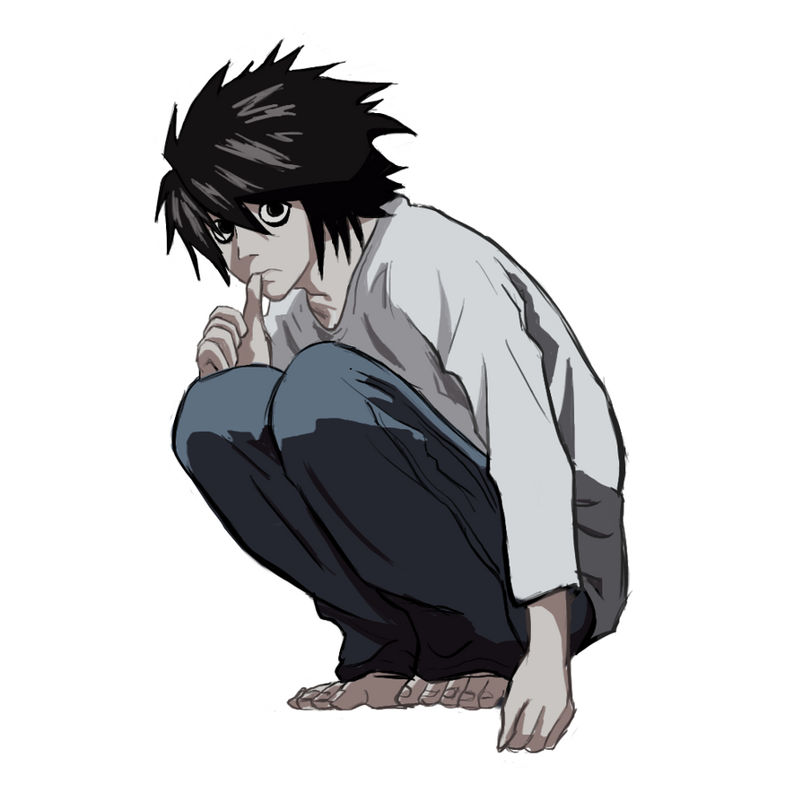 Lawliet  Death N...L Death Note Drawing
