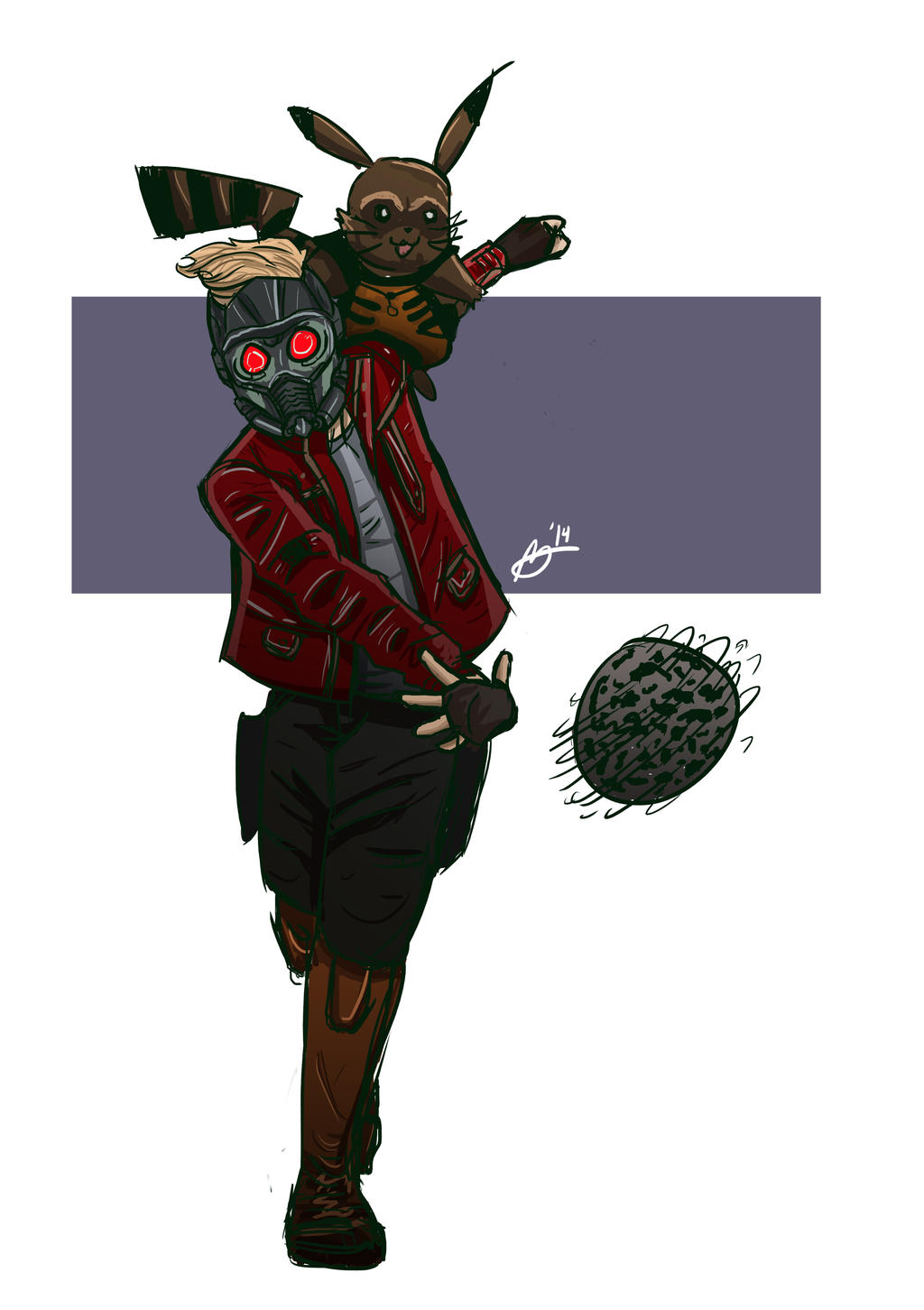 Star Lord And Rocket Raccoon By Timothygreenii On Deviantart: Ash Lord/Rocket Pikachu By