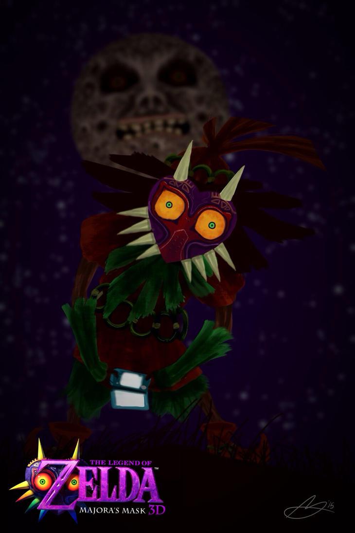 Majora's Mask 3DS: Skull Kid's 3DS by XanderComicsInc