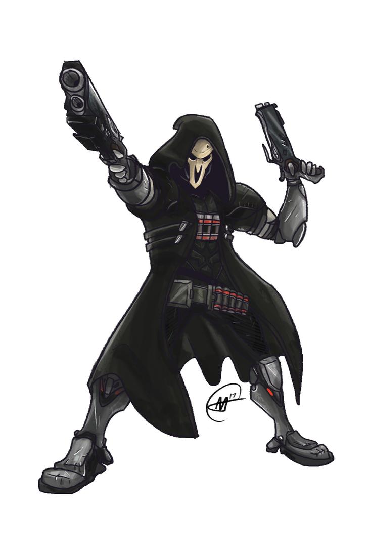 Reaper - Overwatch (Speedpaint in desc.) by XanderComicsInc