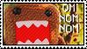 DOMO OM NOM stamp by C-Hadley