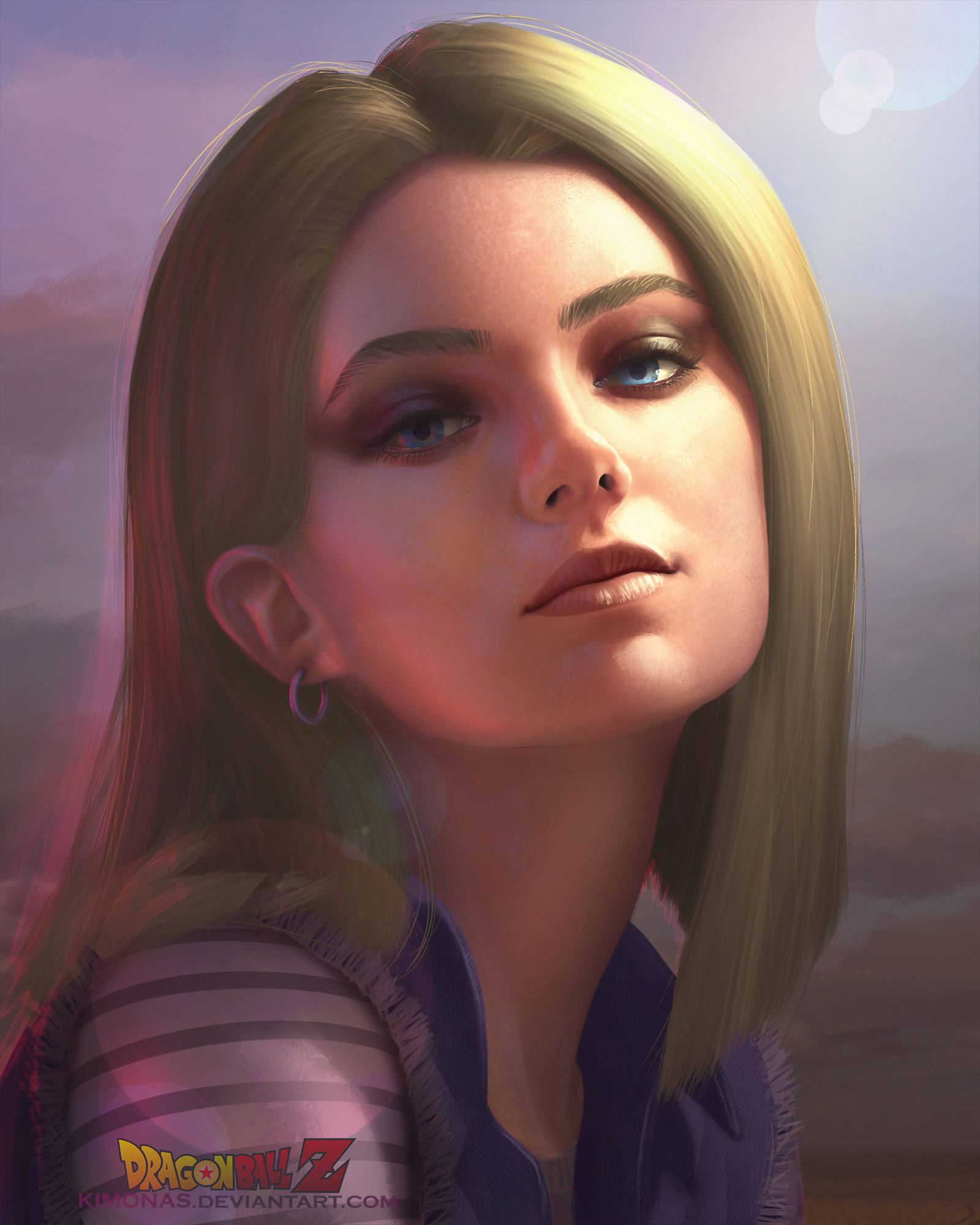 Android 18 And Tail Deviantart: Realistic Android 18 By Kimonas On DeviantArt