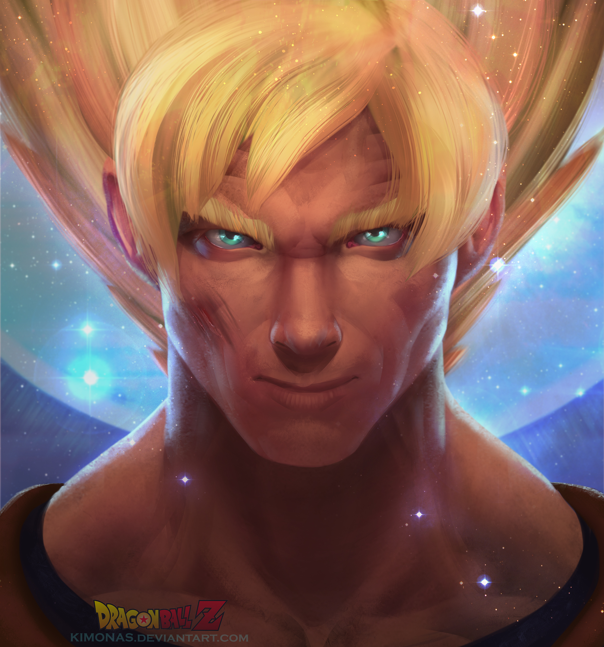 Realistic Goku by Kimonas