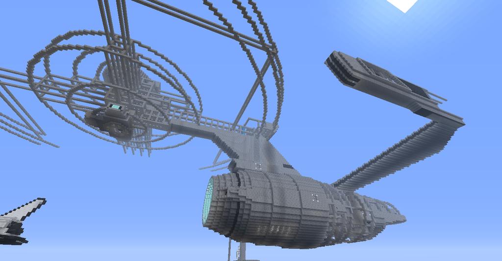 Minecraft How To Build The Star Trekk Uss Enterprise