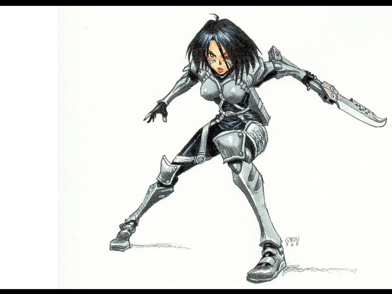 Alita Battle Angel >> ALITA's_Damascus_blade by s2ka on DeviantArt