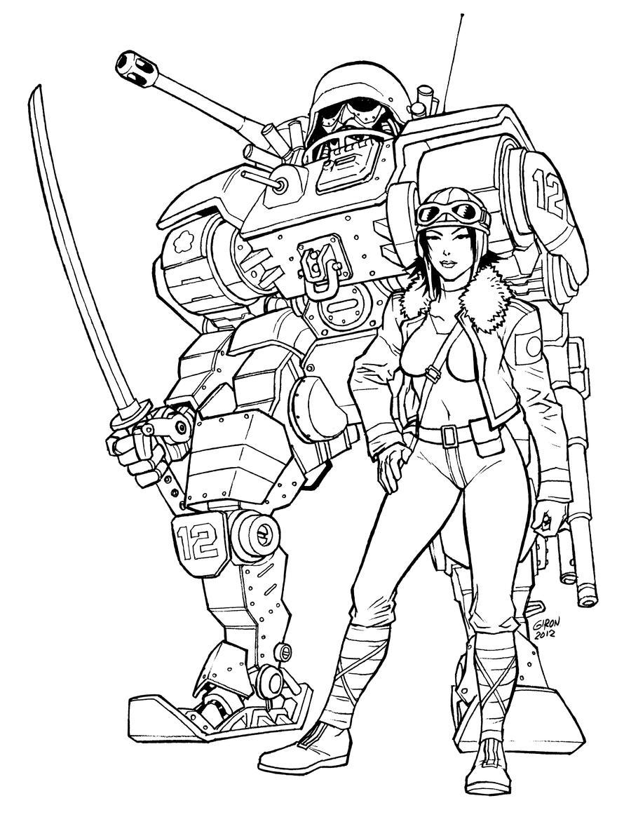 Imperial_Mech_Girl sketch by s2ka