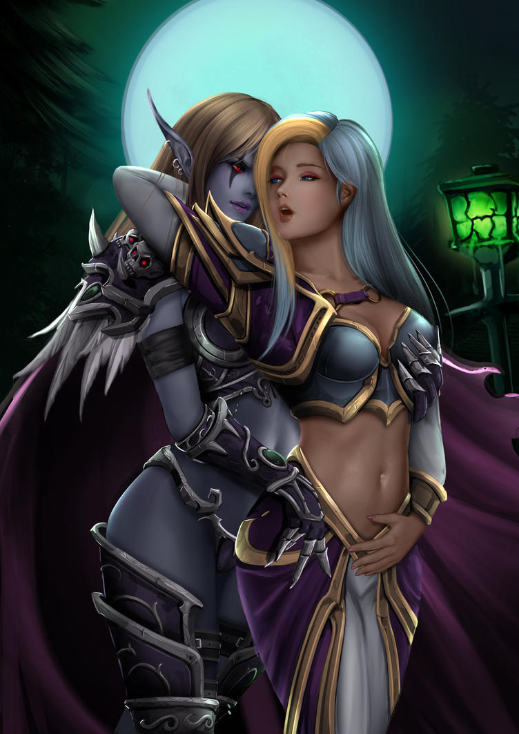 3d Lady Sylvanas and Jaina Proudmoore porn naked tube