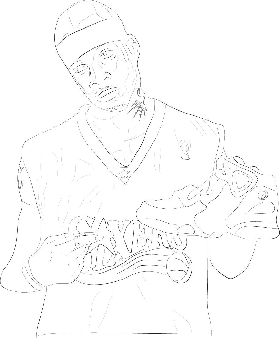 coloring pages of allen iverson - photo#8