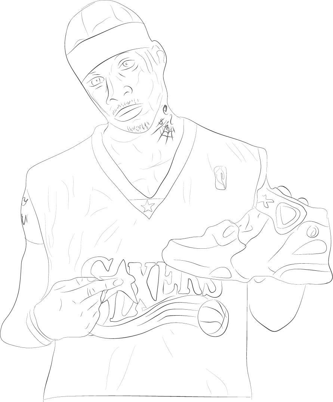 allen iverson coloring pages - photo#3