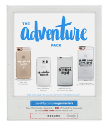 The Adventure Pack - Typography Phone Case