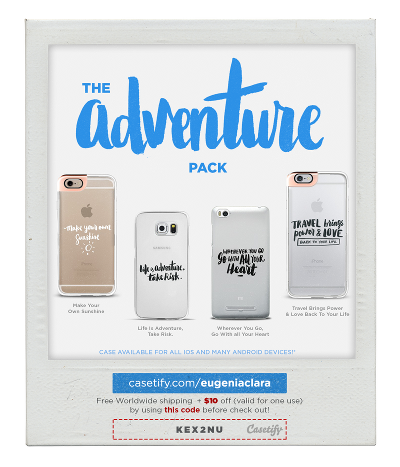 The Adventure Pack - Typography Phone Case by eugeniaclara