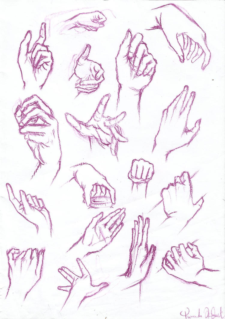 Anatomy Study: HANDS by YuuyuMori on DeviantArt