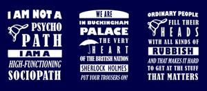 BBC Sherlock Quotes - tees