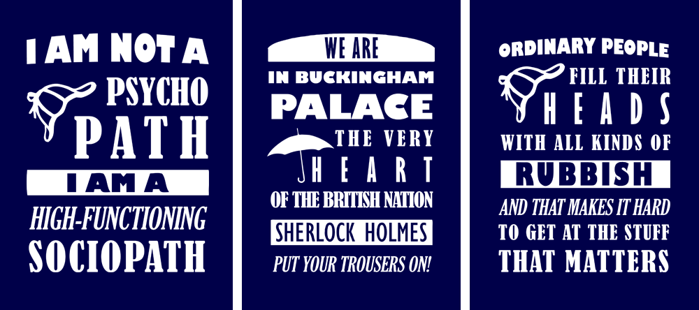 Sherlock Holmes Quotes Wallpaper Bbc sherlock quotes - tees by