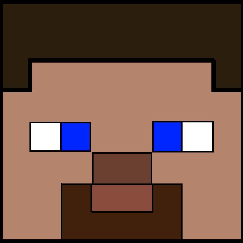 Minecraft Herobrine Head - ma