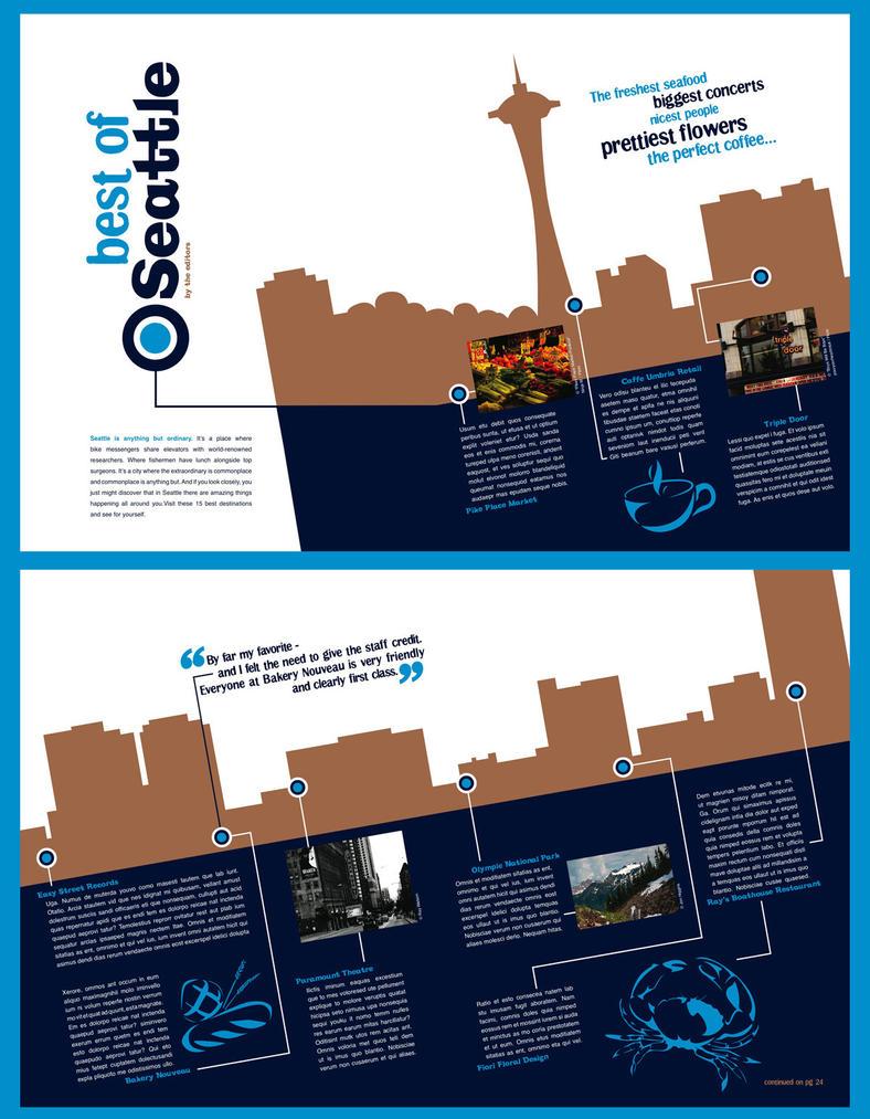 Magazine layouts by Zivrezcara on DeviantArt