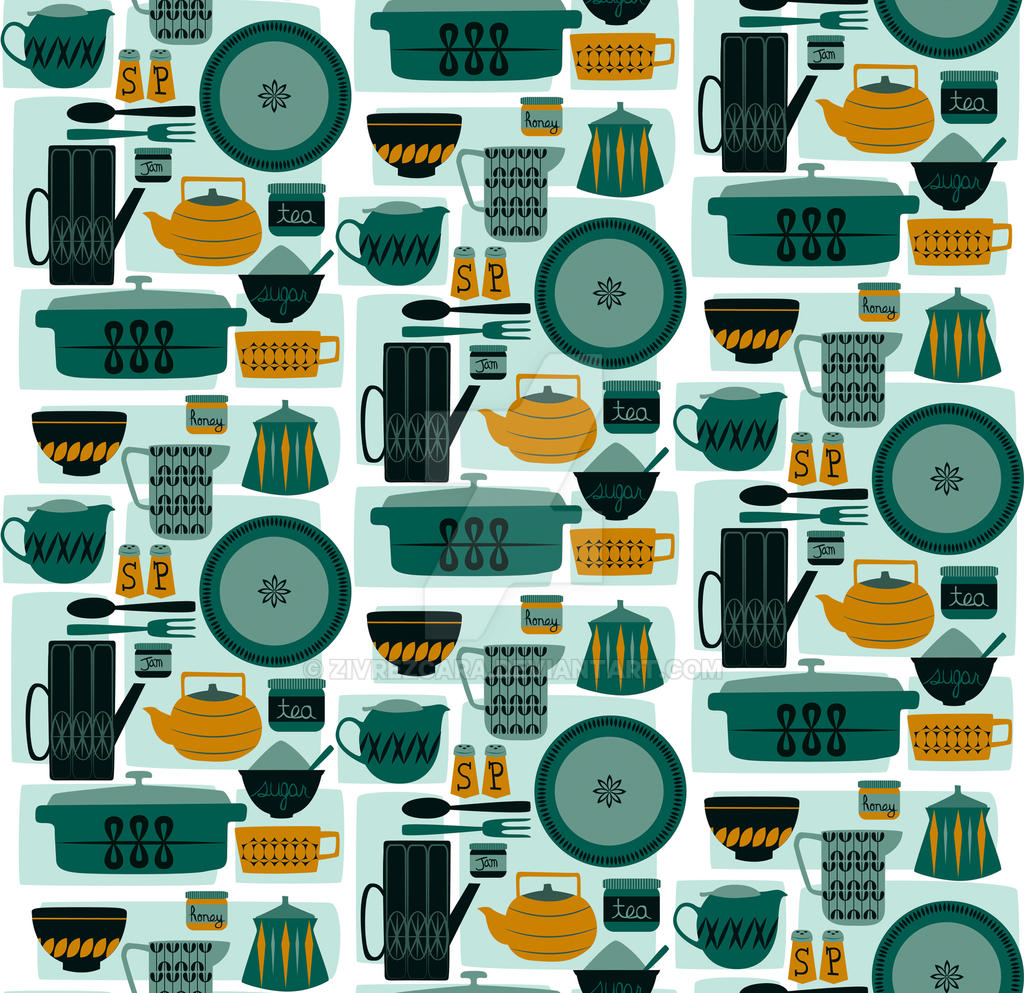 Kitchen Pattern by Zivrezcara on DeviantArt